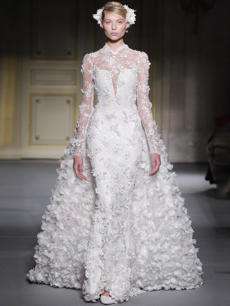 les trois plus belles robes de mari e haute couture printemps t 2013 sophieabriat. Black Bedroom Furniture Sets. Home Design Ideas