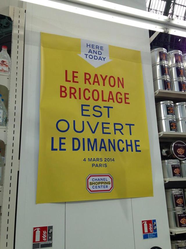 Faut il penser quelque chose du d fil chanel au supermarch sophieabriat - Bricolage ouvert dimanche paris ...